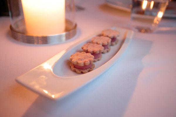 Mignardises: Raspberry Sherbet and Shortbread