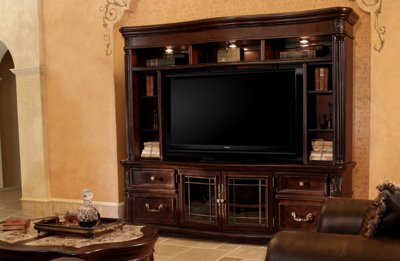 City Furniture Regal Dark Tone 86 Quot Tv Stand