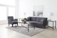 Amani Dark Gray Sofa Futon: Living Room Sofas & Couches