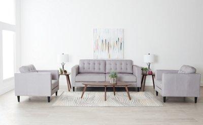 7 piece living room package children furniture shae light gray microfiber