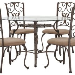 Round Table With Chairs Dining Chair Covers Jysk Westcot2 Glass And 4