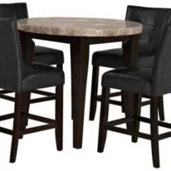 Marble Top Table With 4 Chairs Sled Base Chair Monark Round High Tbl 2 Barstools