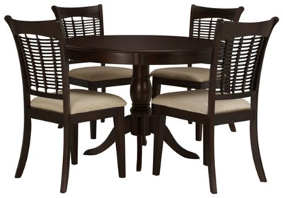 circle table and chair set boat deck bayberry dark tone round 4 chairs