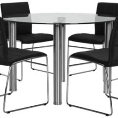 Round Table 8 Chairs X Rocker Pro Gaming Chair Power Cable Napoli Black Glass And 4 Upholstered