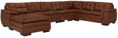 large chaise sofa leather broyhill sofas city furniture trevor medium brown left
