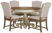 Coventry Two-tone Table & 4 Upholstered Chairs
