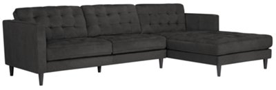 dark grey sectional sofa with chaise modern sets pictures city furniture shae gray microfiber right