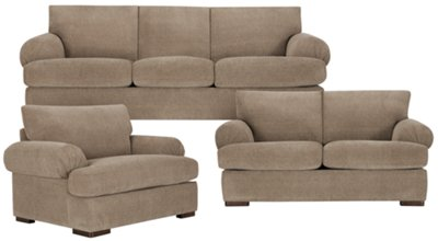 taupe color leather sofa pet covers canada city furniture belair dk microfiber