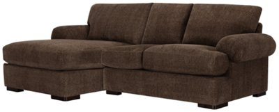 dark brown sectional sofa chaise good quality beds sydney city furniture belair dk microfiber left