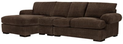 dark brown sectional sofa chaise ligne roset knock off belair fabric small left