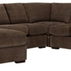 Dark Brown Sectional Sofa Chaise Hsl Chairs And Sofas Belair Fabric Medium Left