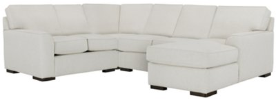 white fabric sectional sofa with chaise reclining chair set city furniture austin medium right