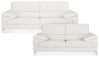 white microfiber sectional sofa 2 seater bed nz city furniture marquez