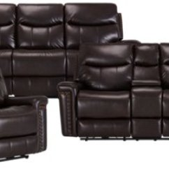 Nice Living Room Sets Furniture Fort Myers Fl City Wallace Dark Brown Microfiber Manually Reclining