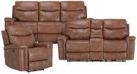 City Furniture: Wallace Medium Brown Microfiber Power ...