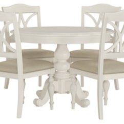Closeout Living Room Furniture Sets Tiny With Corner Fireplace Quinn White Table & 4 Wood Chairs