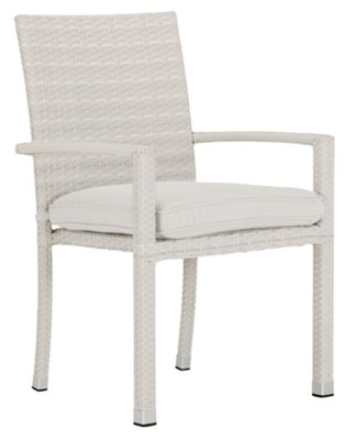 White Arm Chairs Bahia White Arm Chair