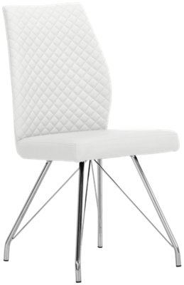 White Upholstered Chair Lima White Upholstered Upholstered Side Chair