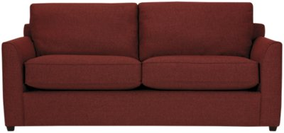 red fabric sofa cushions on leather sofas city furniture asheville