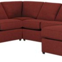 Red Sectional Sofa Chaise Console Table Ideas Asheville Fabric Medium Right