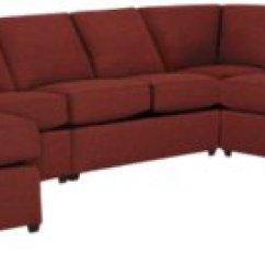 Red Sectional Sofa Chaise Flexsteel Elliott City Furniture Asheville Fabric Large Left