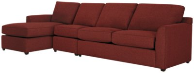red sectional sofa chaise bunk bed transformer city furniture asheville fabric small left