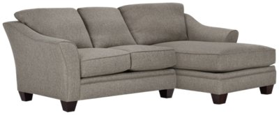 dark grey sectional sofa with chaise the best bed city furniture avery gray fabric right