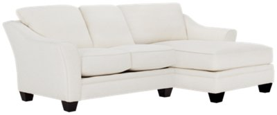 white fabric sectional sofa with chaise american leather sleeper city furniture avery right