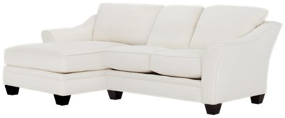 white fabric sectional sofa with chaise etc ventura city furniture avery left