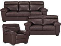 City Furniture: Devon Dark Brown Leather Chair