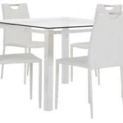 White Table Chairs Bar Concrete Dining Room Sets Chair City Furniture Skyline Glass 4 Upholstered