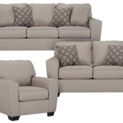 Microfiber Living Room Furniture Modern Colors Calicho Light Taupe