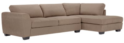 beige microfiber sectional sofa with storage chaise tables ikea perry dark taupe right