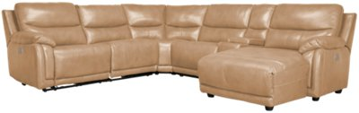 taupe color leather sofa furniture in dubai city vince right chaise power