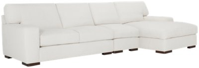 white fabric sectional sofa with chaise ashley furniture larkinhurst veronica small right