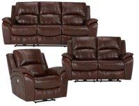 City Furniture: Memphis Medium Brown Leather Power ...