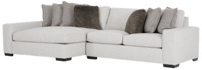 orlando sectional sofa living room decorating ideas dark brown city furniture light gray fabric left chaise