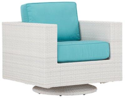 Biscayne Dark Teal Swivel Chair