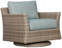 City Furniture: Raleigh Teal Swivel Chair