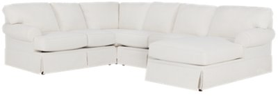 white fabric sectional sofa with chaise diy table shelves turner medium right