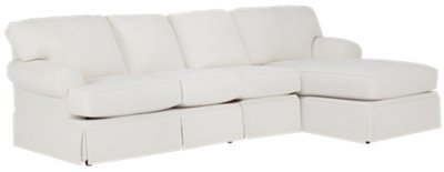 white fabric sectional sofa with chaise can you wash corduroy covers turner small right