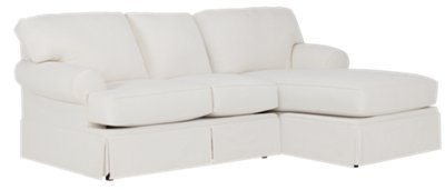 white fabric sectional sofa with chaise dark grey what colour walls turner right