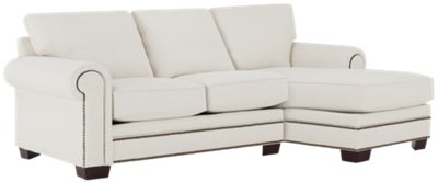 white fabric sectional sofa with chaise double bed hotel foster right