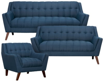 blue fabric recliner sofa decoro leather review sofas sets online find