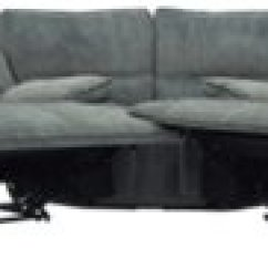 Gray Microfiber Power Reclining Sofa Contemporary Wooden Frame City Furniture Jesse Dark