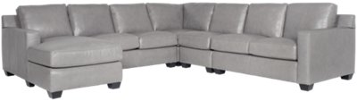 large chaise sofa leather deep cushioned sofas carson gray left sectional