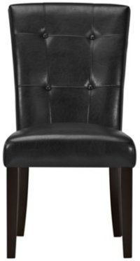 Monark Black Upholstered Side Chair