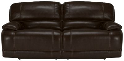 abbyson living bradford faux leather reclining sofa dark brown room l shaped outstanding black