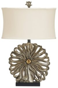 City Furniture: Flower Pewter Table Lamp