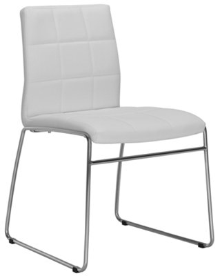 White Upholstered Chair Napoli White Upholstered Side Chair